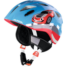Alpina Ximo Flash Winter Bike Helmet Children red/blue